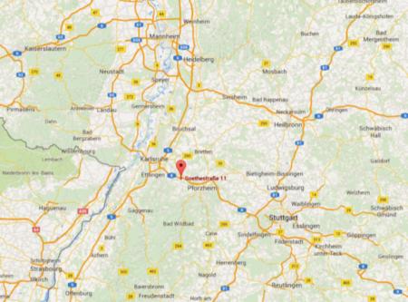 Karte Remchingen